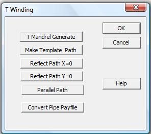 Dialog For CADFIL Tee Winding Options